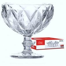 Jogo de Taças para Sobremesa ou Coquetel Bico de Abacaxi Clear 310ml 6 Unidades - Class Home