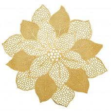 Lugar Americano PVC Flor 47cm Dourado - Yazi