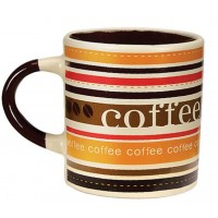 Mini Caneca Cerâmica para Café 110ml Caboclo Creme - Yazi