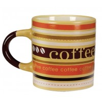 Mini Caneca Cerâmica para Café 110ml Caboclo Amarela - Yazi