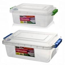 Kit Caixa Organizadora 5 Litros e 2,5 Litros com Tampa Trava Fácil - Erca Plast