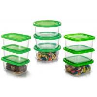 Conjunto de Potes Plástico Prime 9 Peças Tamanho Médio - Ercaplast