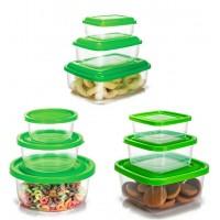 Conjunto de Potes Plástico Prime 9 Peças Pequeno, Médio e Grande - Ercaplast