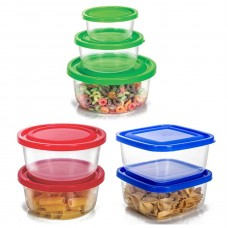 Conjunto de Potes Plástico Prime 7 Peças Tamanhos Sortidos - Ercaplast