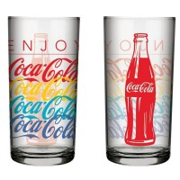 Copo Summer Coca Cola Vidro Jogo 2 Unidades 390ml - Nadir