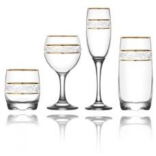 Jogo 24 peças Misket Sultan Long Drink, Whisky, Vinho e Champagne - Vitrizi