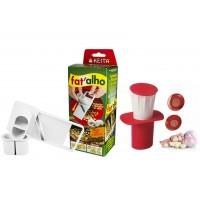 Kit Fatiador, Filetador e Espremedor de Alho Prático 4 Funções - Unihome