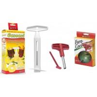 Kit Descascador de Abacaxi Cascaxi e Fura Coco - Keita