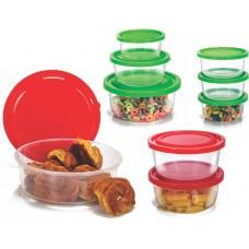 Conjunto de Potes Redondo Plástico Prime 9 Peças Tamanhos Sortidos - Ercaplast