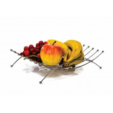 Fruteira Prime Aço Cromado 30cm para Mesa - Erca Aramados
