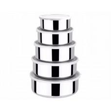 Conjunto de Potes Aço Inox com Tampa 5 Peças - Clink
