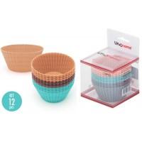 Jogo Formas em Silicone para Muffin e Cupcake 12 Peças - Unihome
