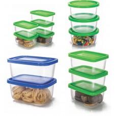Conjunto de Potes Plástico Prime 13 Peças Pequeno e Médio - Ercaplast