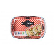 Assadeira Retangular Vidro Borosilicato 3600ml Ô Cuisine - Vitrizi