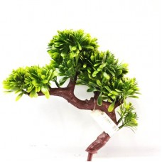 Árvore Bonsai Artificial 23cm Verde com Mini Flor - Flor Arte