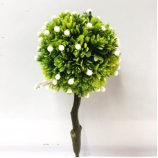 Árvore Bonsai Buchinho Artificial 23cm Verde com Mini Fruto - Flor Arte