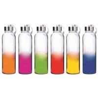 Garrafa de Vidro com Alça Matiz Color com Tampa 500ml Unidade- Yazi