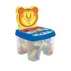 Cadeira Toy Blocos Azul - GGB Brinquedos