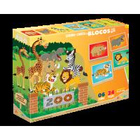 Quebra Cabeça em Blocos Zoo - Junges