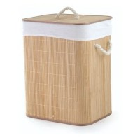 Cesto em Bambu Premium Retangular 60cm Multiuso - Jolitex