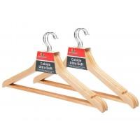 Conjunto Cabide Madeira Marfim Premium 6 Unidades - Unicasa