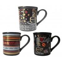 Jogo Caneca Porcelana Premium Decor Coffee Black 150ml 3 Pç