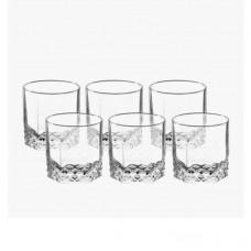 Jogo de Copos Vidro Starlit Whisky 310ml 6 Peças - Vtrizi