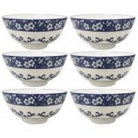 Jogo Tigela Bowl Porcelana Blue Garden 250ml 6 Un - Lyor