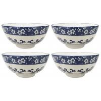 Jogo Tigela Bowl Porcelana Blue Garden 600ml 4 Un - Lyor