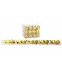 Kit 15 Mini Bolas Natal Dourada Glitter, Fosca, Lisa 3cm - Master Christmas