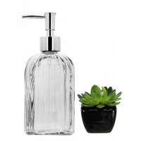 Kit Banheiro Porta Sabonete Líquido e Mini Vaso Suculenta - Yazi