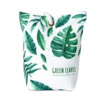 Peso de Porta Tecido Decor Folhas Verdes Costela de Adão - Jolitex