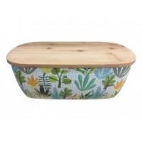 Porta Pão Eco Bambu Premium Com Tampa Tábua de Corte 36cm - Fratelli